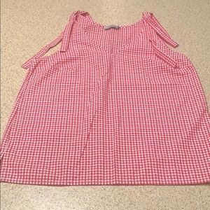 Checkered Tank Top NWOT